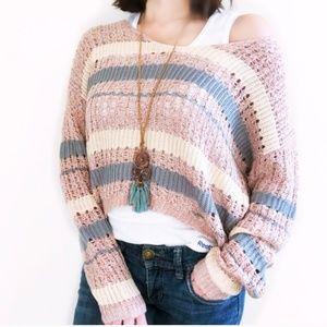 Freshman soft Knitted Crop Sweater
